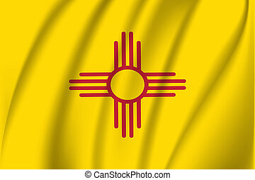 Waving flag of New Mexico. 10 EPS