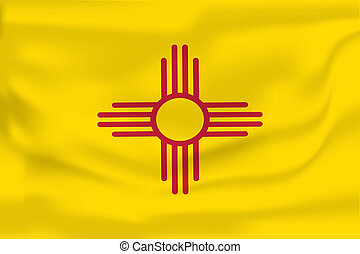 Waving flag of New Mexico.