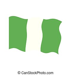 Waving flag of Nigeria