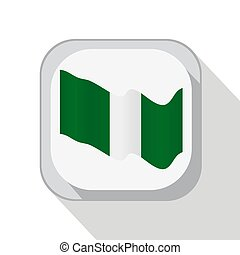 Waving flag of Nigeria. Vector illustration for your design.