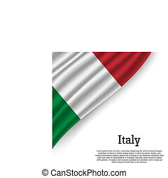 waving flag of on white background