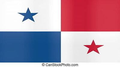 Waving Flag of Panama Looping Background