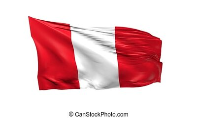 Flag of Peru - Waving Flag of Peru, 3d animation