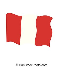 Waving flag of Peru