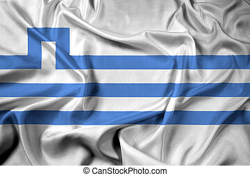 Waving Flag of Podgorica, Montenegro