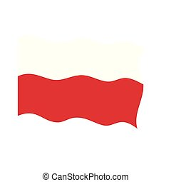 Waving flag of Poland