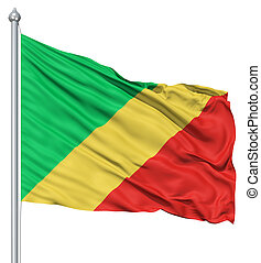 Waving flag of Republic of the Congo - Flag of Republic of...