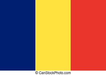Waving flag of Romania.