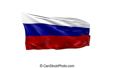 Waving flag of Russia, 3d animation