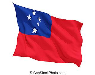 Waving flag of samoa
