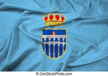 Waving Flag of Segovia, Spain