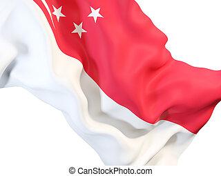 Waving flag of singapore