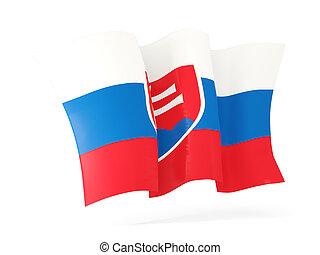 Waving flag of slovakia. 3D illustration