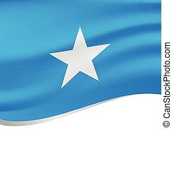 Waving flag of Somalia isolated on white