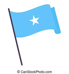 Waving flag of Somalia