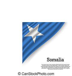 waving flag of Somalia