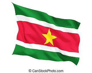 Waving flag of suriname