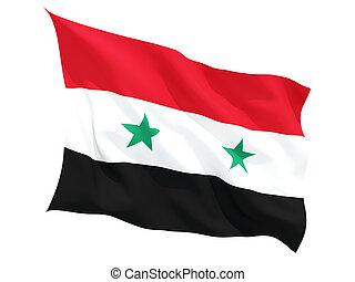 Waving flag of syria