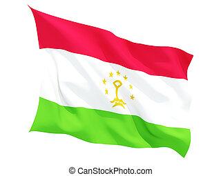 Waving flag of tajikistan