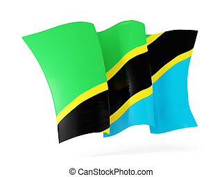 Waving flag of tanzania. 3D illustration