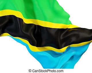 Waving flag of tanzania