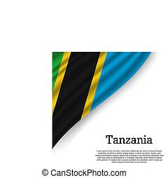 waving flag of Tanzania