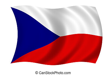 flag of the czech re - waving flag of the czech republic