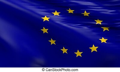 Waving flag of the EU