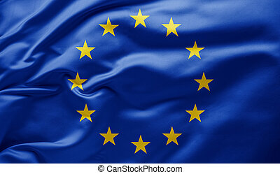 Waving flag of the European Union