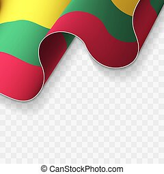 Waving flag of the Lithuania