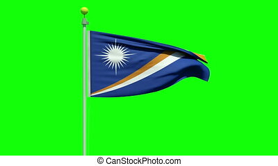 Waving Flag of the Marshall Islands