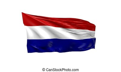Waving flag of the Netherlands, 3d animation