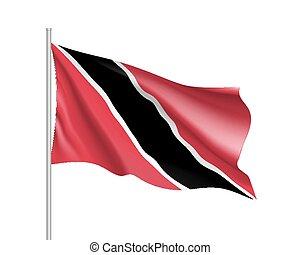 Waving flag of Trinidad