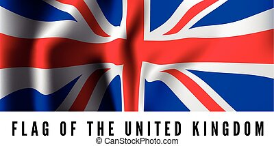 Waving flag of Uk - United Kingdom