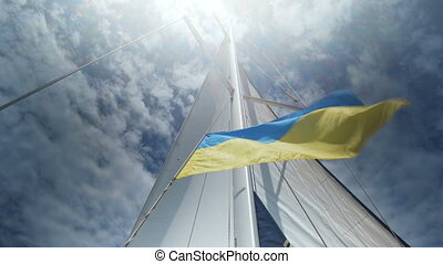 Waving flag of Ukraine. Flag of Ukraine background