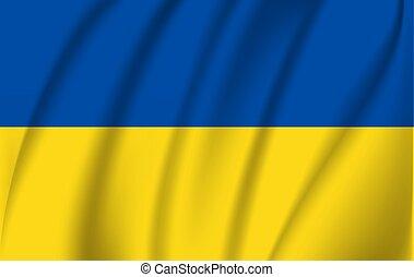 Waving flag of Ukraine, vector