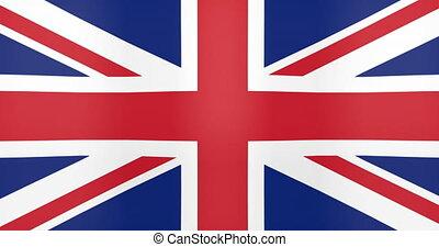 Waving Flag of United Kingdom Looping Background