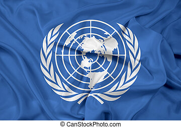 Waving Flag of United Nations