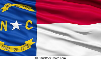 Waving Flag Of US State of North Carolina which bears a gilt...