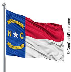Waving Flag of USA state North Carolina - Realistic 3d flag...
