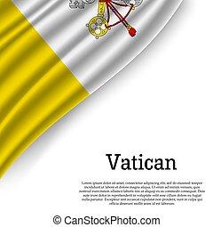 waving flag of Vatican