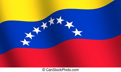 Waving flag of Venezuela