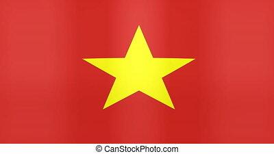 Waving Flag of Vietnam Looping Background