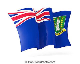 Waving flag of virgin islands british. 3D illustration