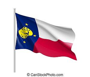 Waving flag of Wake Island