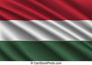 waving flag on silk background