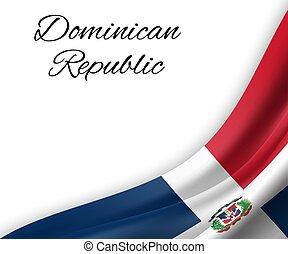 waving flag on white background.