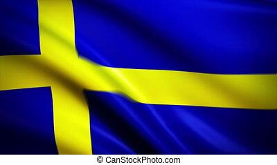 Waving Flag Sweden Punchy - National flag of Sweden waving...