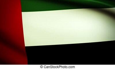 Waving Flag United Arabien Emirates - National flag of...