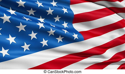 Waving Flag United States Of Americ - Waving Stars and...